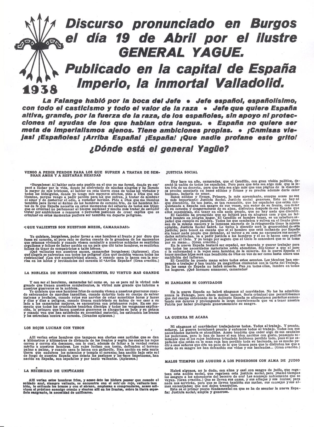 Discurso General Yagüe - abril 1938 (1)